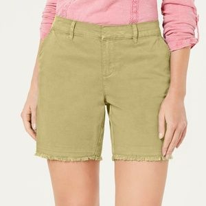 Style & Co Petite Released Hem Chino Shorts